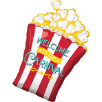 Supershape Carnival Popcorn Foil Balloon P35 packaged 50cm x 73cm