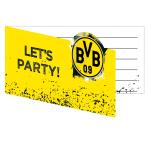 8 Invites & Envelopes BVB Dortmund 13,9 x 8 cm