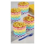 24 Snack Cups Paper Minis     rainbow 7,3 x 7,3 x 2,8cm