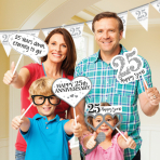 Photo Booth Kit Silver Anniversaries