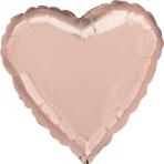 """Standard """"Rose Gold Decorator"""" Foil Balloon Heart, S15, bulk, 43cm"""