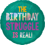 Standard Young & Fabulous Birthday Foil Balloon S55 packaged