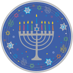 18 Plates Eight Happy Nights Hanukkah Paper Round 26.7 cm