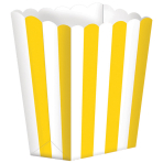 5 Treat Boxes Stripes SunshineYellow 9.5 x 13.5 cm