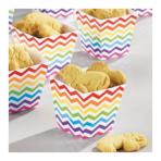 36 Treat Cups Paper Minis rainbow 4,4 x 4,4 x 4,9cm