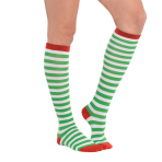 Socks Green Stripes One Size