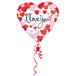 Standard Hearts Equal Love Foil Balloon S40 packaged