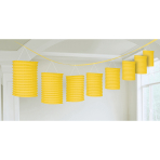 Lantern Garland Sunshine Yellow Paper 365 cm