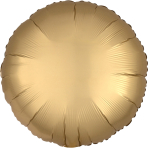 "Standard ""Satin Luxe Gold Sateen"" Foil Balloon Round, S15, packed, 43cm"