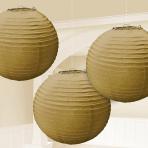3 Lanterns Gold Paper 20.4 cm