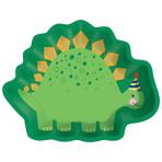 8 Plates Dino-Mite Dinosaur Paper Shaped 22cm x 17cm