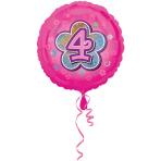 Standard Pink Flowers 4 Foil Balloon S40 Packaged 43 cm