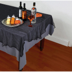 Tablecover Cheesecloth Black 152.4 x 213.3 cm