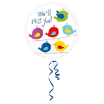 Standard We'll Miss You Foil Balloon, round, S40, packed, 43 cm