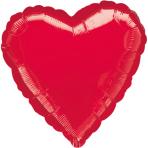 Standard Metallic Red Heart Foil Balloon S15 Bulk