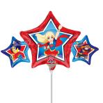 """Mini Shape """"DC Super Hero Girls"""" Foil Balloon, A30, airfilled, 22 x 43 cm"""