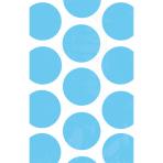 10 Paper Bags Polka Dots Carribean Blue 11.3 x 17.7 cm
