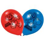 "6 Latex Balloons Super Mario 22.8 cm / 9"""