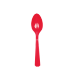 20 Spoons Apple Red Plastic 14.7 cm