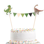Cake Decoration Pennant Banner Happy Dinosaur 15 x 20 cm