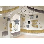 Decoration Kit Happy New Year Foil / Paper 30 Pieces 274 x 30.4 cm / 7.6 - 33 cm
