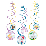 6 Swirl Decoration Princess & Knight