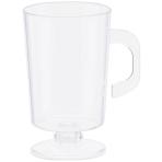 10 Mini Coffee Cups Plastic Clear 59 ml