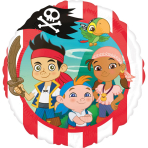 Standard Jake & the Neverland Pirates Foil Balloon S60 Packaged 43 cm