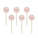 12 Word picks paper minis pink