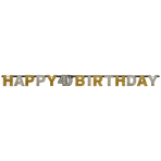 Letter Banner 40 Sparkling Celebration - Silver & Gold Prismatic