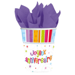 8 Cups Radiant Birthday JoyeuxAnniversaire 266 ml