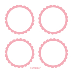 5 Sheets of Labels New Pink 5.1 cm