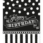 8 Loot Bags Birthday Accessories - Black & White 24 x 20 cm