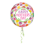 "Orbz ""HMD Beautiful Flowers"" Foil Balloon Clear, G20, packed, 38 x 40cm"