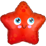 Junior Shape Starfish Foil Balloon S50 packaged