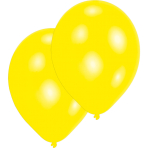 50 Latex Balloons Standard Yellow 25.4 cm/10''