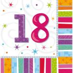 16 Napkins Radiant Birthday 18 33 x 33 cm