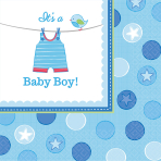 16 Napkins Shower With Love - Boy 33 x 33 cm
