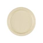 8 Plates Vanilla Creme Paper Round 17.7 cm
