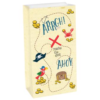 8 Paper Bags Ahoy Birthday 25.4 x 13 x 7.6 cm