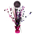 Spray Centrepiece Sparkling Celebration - Pink Happy Birthday Foil / Paper 45.7 cm