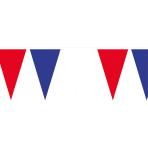 Pennant Banner Blue-White-Red Plastic 400 x 26 cm