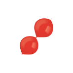 """100 Latex Balloons Decorator Crystal E-Link Apple Red 15 cm / 6"""""""