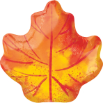 Standard Shape Fall Maple Leaf Foil Balloon S50 Packaged 40cm x 53cm