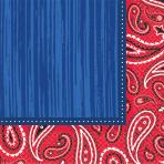 16 Beverage Napkins Bandana & Blue Jeans 25 x 25 cm