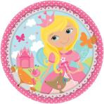 8 Plates Woodland Princess 17.7 cm