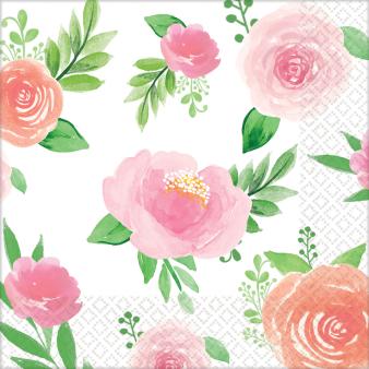 16 Napkins Floral Baby 25 x 25 cm