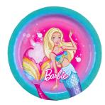 8 Plates Barbie - Dreamtopia Paper Round 17.7 cm