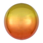 Ombré Orbz Yellow & Orange Foil Balloon G20 bulk