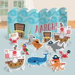 Table Decoration Kit Ahoy Birthday Paper 11 Pieces 59.9 cm / 11.4 - 24.7 cm